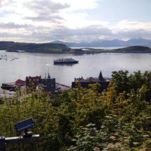 The ferry leaving Oban to the Isle of Mull