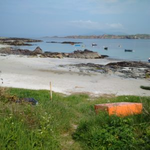 view from Iona to Mull