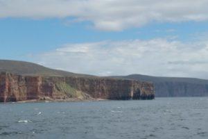 approaching Orkney
