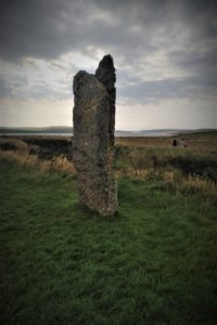 A single standing stone of the Ring of Brodgar - Orkney