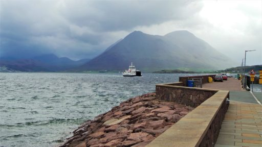 Ferry leaving Raasay