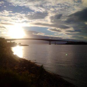 Skye Bridge at sunset