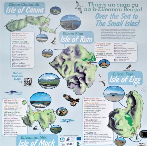 picture map of the small isles