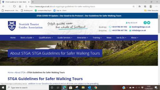 STGA Guidelines for safer walking tours